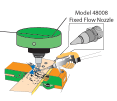 nozzle for drilling chip removal